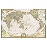 World Executive, Pacific Centered, laminated Wall Maps World: PP.NGW1020327 (Reference - World)