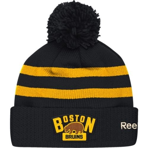 Reebok Men's 2016 NHL Winter Classic Boston Bruins Black/Gold Pom Knit Hat – Sports Center Store