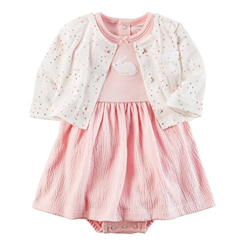 Bunny Carters Girls Newborn (Carter's Baby Girls' 2 Piece Dress Set Newborn)