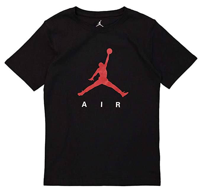b35f387dad7638 Nike Boys Air Jordan Logo T-Shirt Youth Size (Small) Black  Amazon ...