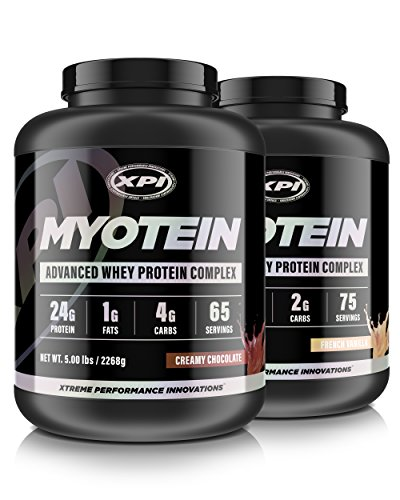 XPI Myotein Chocolate Vanilla 5LB – Best Whey Protein Powder Shake – Hydrolysate, Isolate, Concentrate Micellar Casein
