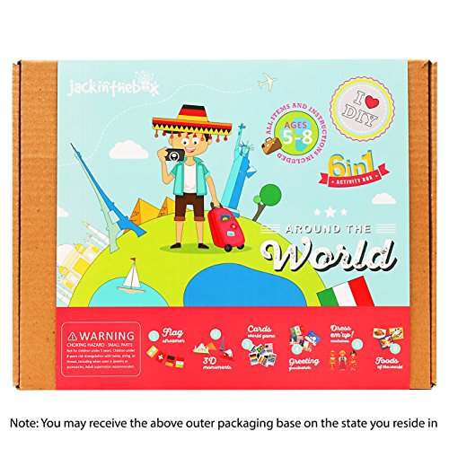 Art and Craft Educational Kit for Kids - Around the World 6-in-1 DIY Fun Activities for Children Ages 5-8, Perfect Birthday Gift for Girls and Boys Learning Stem Toys by (Diy Sibling Costumes)
