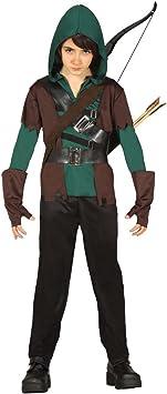 NET TOYS Disfraz niño Robin Hood Traje Infantil Arquero S 116/128 ...