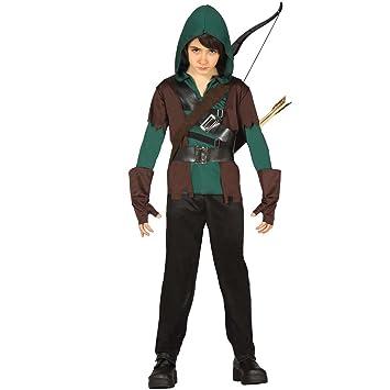 Disfraz niño Robin Hood Traje infantil arquero S 116/128 cm años 5 - 6