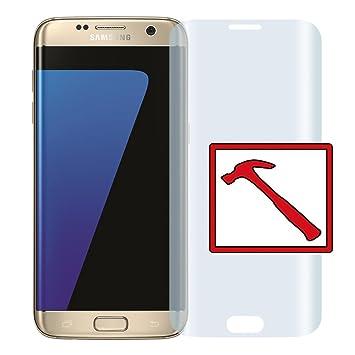 b0be5d9fff3 Slabo Lámina de Vidrio Premium para Samsung Galaxy S7 Edge Full Cover Lámina  Protectora Protector de Pantalla Templado Tempered Glass Claro: Amazon.es:  ...
