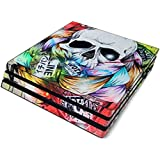 Visionary Full Faceplates Skin Decal Wrap with 2 Piece Lightbar Decals for Playstation 4 Pro