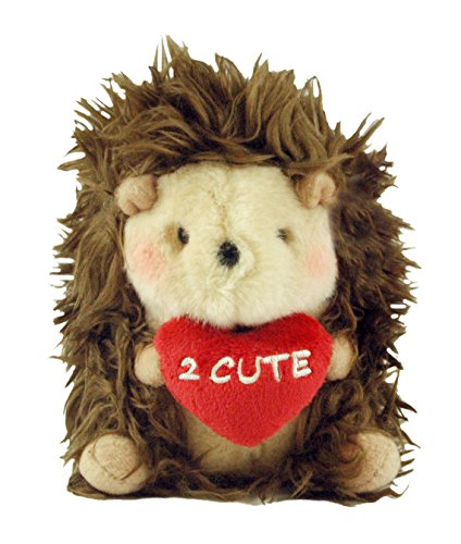 Valentine's Day plush hedgehog - 2 Cute Hedgehog Brown Rolly Pets Valentine's Day Plush