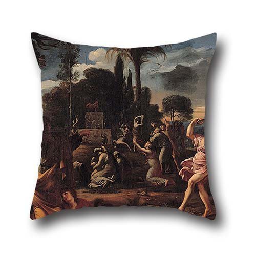 Oil Painting François Perrier - Adoration Of The Golden Calf Cushion Covers 16 X 16 Inches / 40 By 40 Cm For Dining Room,boy Friend,study Room,bar Seat,lover With Each (Cute Halloween Sayings For Boyfriends)