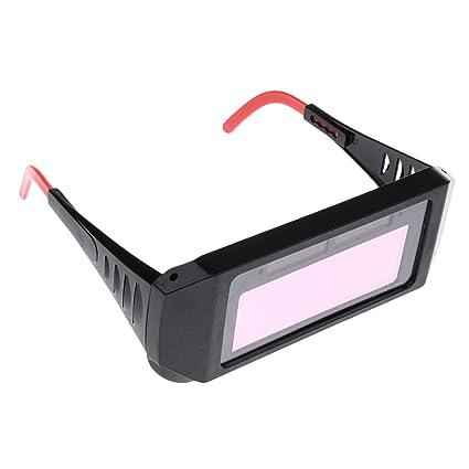 MagiDeal Solar Accionado Oscurecimiento Automático Soldadura Máscara Casco Ojos Goggle Soldador Gafas: Amazon.es: Bricolaje y herramientas