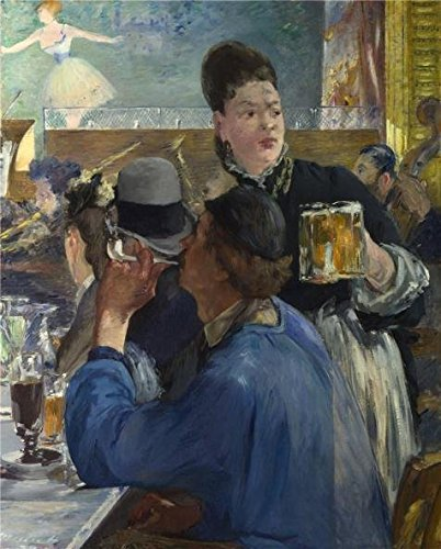 The High Quality Polyster Canvas Of Oil Painting 'Edouard Manet - Corner Of A Cafe-Concertt,probably 1878-80' ,size: 12x15 Inch / 30x38 Cm ,this Best Price Art Decorative Prints On Canvas Is Fit For Study Gallery Art And Home Decor And Gifts ()