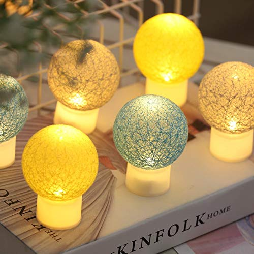 ZH Cotton Ball Lamp 10 pc (Yellow, Gray, Light Gray, Light Yellow) ...]()