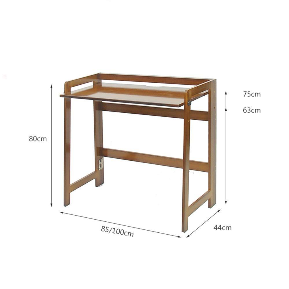 mesa plegable ZZHF Bambú, Rectangular, Altura Ajustable, Fácil De ...