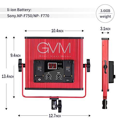 GVM LED Video Light 520 CRI97 + & TLCI 97+ 18500lux @ 20 inch Bi-Color 3200-5600K for Photography Video Lighting Studio Interview Portrait by GVM Great Video Maker (Image #1)