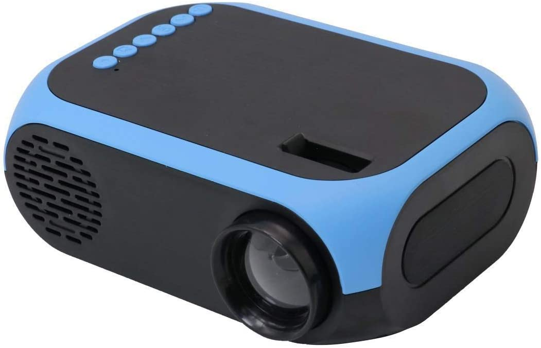 Portable Mini Projector LED Micro Projector Home Party Meeting Theater Projector,Blue