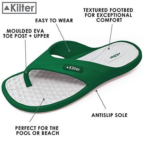 Kilter Adult's Pulsar EVA Moulded Flip Flop Green/White YyoZCzYn
