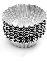 Dealglad® 20pcs Egg Tart Aluminum Cupcake Cake Cookie Mold Lined Mould Tin Baking Tool