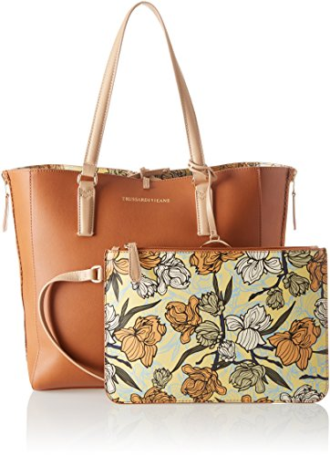 Ecoleather Shopping Jeans Orchid Trussardi Print portés Marron Leather épaule Kuala Sacs Bag Lumpur dYwtq