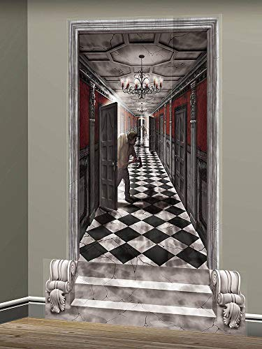 Gothic Mansion Long Hallway Scene Setters | Halloween Decorating Kit