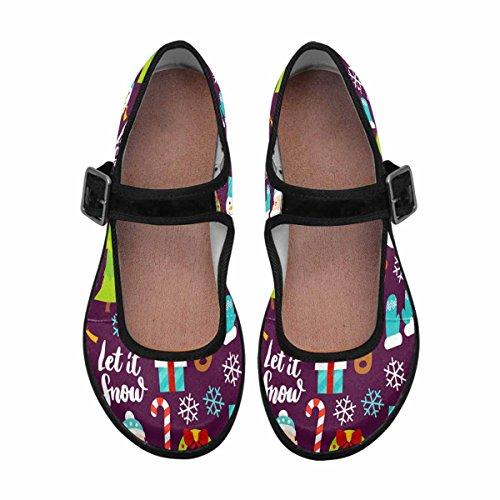 InterestPrint Womens Comfort Mary Jane Flats Casual Walking Shoes Multi 10 1wyq8xmw4N
