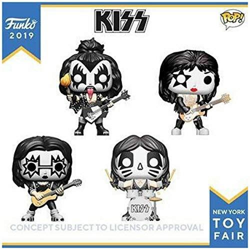 POP! Funko Rocks KISS Set of 4 Spaceman, Starchild, Demon and Catman -