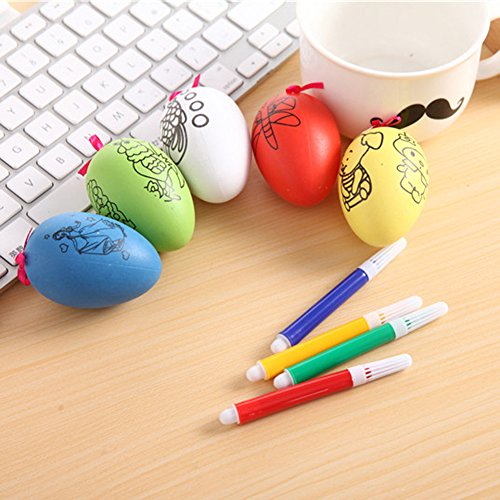 ?Easter Egg Toy Maserfaliw Easter Egg Water Color Pens Kids DIY Painting Educational Toys Festival Decor - Random Color, Hot Home Decorations, Easter And Other Holiday Gifts. -