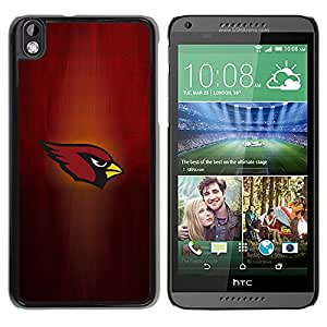 Design for Girls Plastic Cover Case FOR HTC DESIRE 816 Cardinal Sports Team OBBA