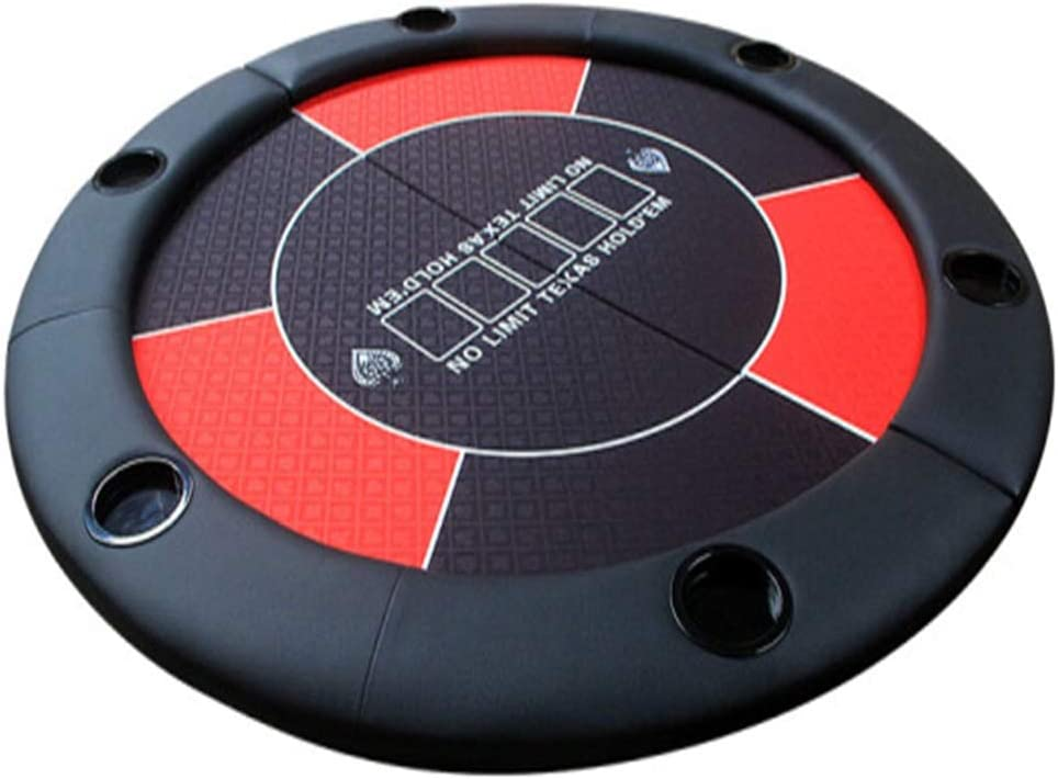 ポーカーテーブルマット、 折りたたみテキサスホールデムテーブルクロスデスクトップチェスルーム麻雀クラブ(1.2メートル直径ラウンド) 簡単にロールアップして片付ける (色 : 赤, サイズ : 1.2m)