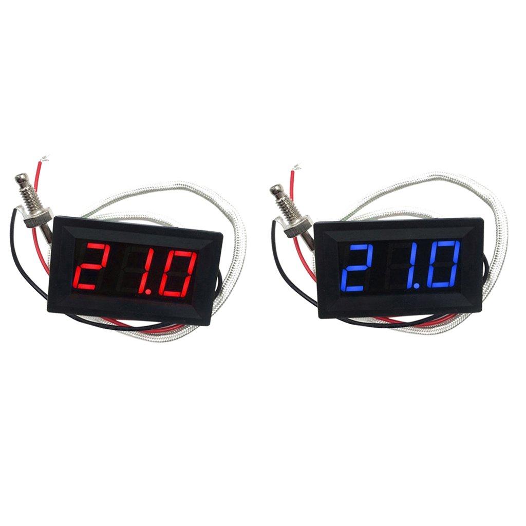 D DOLITY 2 Pezzi Termometro Temperatura Display Digitale -30 ~ 800 Gradi Centigradi Rosso Blu