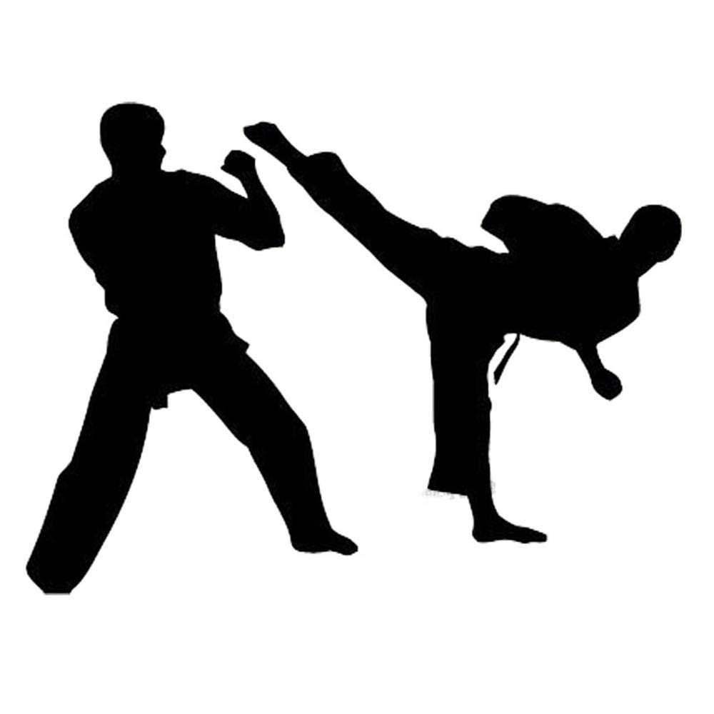 Vinyl Peel and Stick Mural Removable Wall Sticker Decals Decal Dual Karate Fight Martial Art Sport for Boy Bedroom Home Decoration by Ksiae