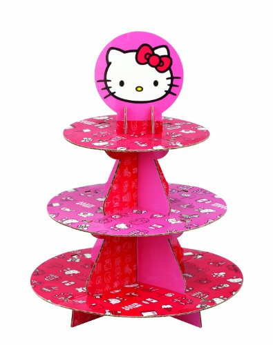 Wilton Hello Kitty Paper Cupcake Stand, Holds 24 Cupcakes]()