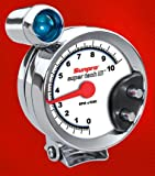 Sunpro CP7914 Super Tach III 5'' Chrome Bezel/White Face Tachometer with Shift Light
