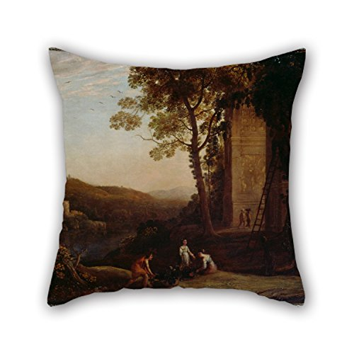Price comparison product image Throw Pillow Covers Of Oil Painting Claude - Gathering Grapes, for Drawing Room, dining Room, indoor, car Seat, office 18 X 18 Inches / 45 By 45 Cm(two Sides)