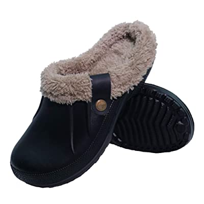 Orlasha Mens House Slippers Fully Fur Lined Winter Indoor Outdoor Slippers Home Sandals Shoes | Slippers