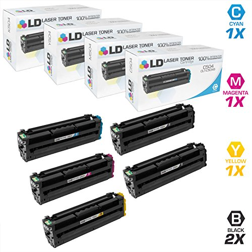 LD © Compatible Replacements for Samsung CLP/CLX/SL Set of 5 Laser Toner Cartridges Includes: 2 CLT-K504S Black, 1 CLT-C504S Cyan, 1 CLT-M504S Magenta, and 1 CLT-Y504S Yellow