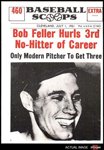 - 1961 Nu-Card Scoops # 460 Hurls 3rd No-Hitter of Career Bob Feller Cleveland Indians (Baseball Card) Dean's Cards 3 - VG Indians