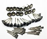 BaiJia 45Pcs Steel Wire Wheels Pen Brushes Set Kit Accessories for Dremel Rotary Tool