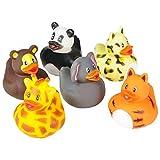 "Rhode Island Novelty 2"" Zoo Animal Rubber Ducks (12 Piece)"