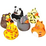 "Rhode Island Novelty 2"" Zoo Animal Rubber Ducks (12 Piece)"