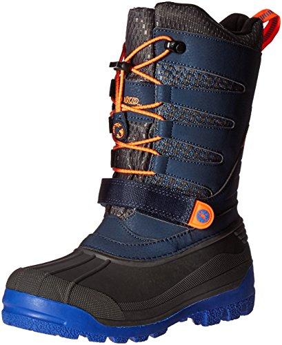 JambuKD Venom Boy's Outdoor Snow Boot, Navy/Orange, 10 M US Toddler