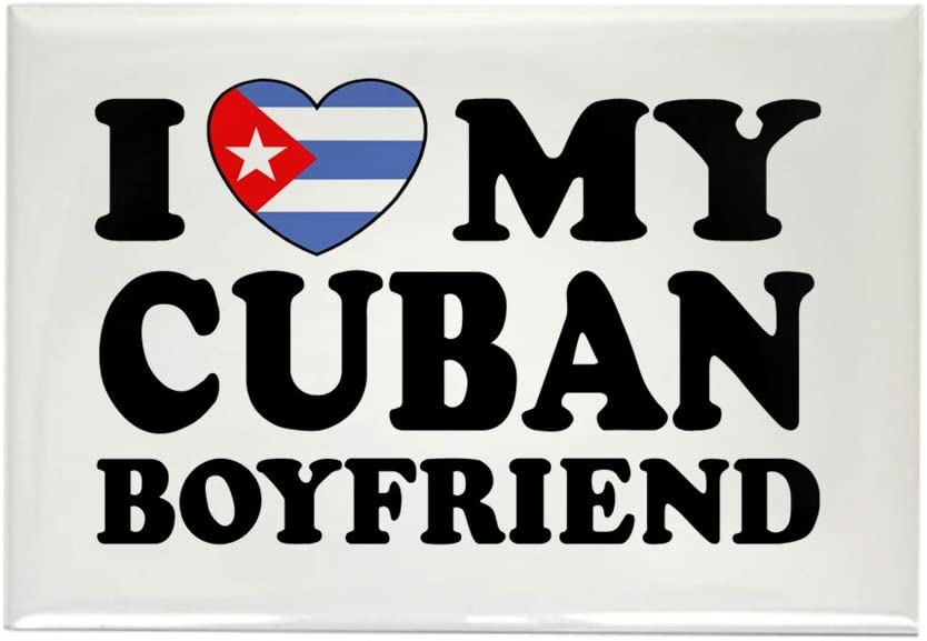 CafePress – I Love mi novio de Cuba rectangular imán – rectangular ...