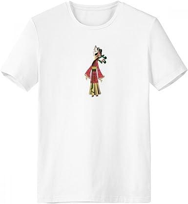 DIYthinker Sombra chino del juego de sexo femenino con cuello redondo de la camiseta blanca de manga corta Comfort Deportes camisetas de regalos - Multi - XL: Amazon.es: Ropa y accesorios
