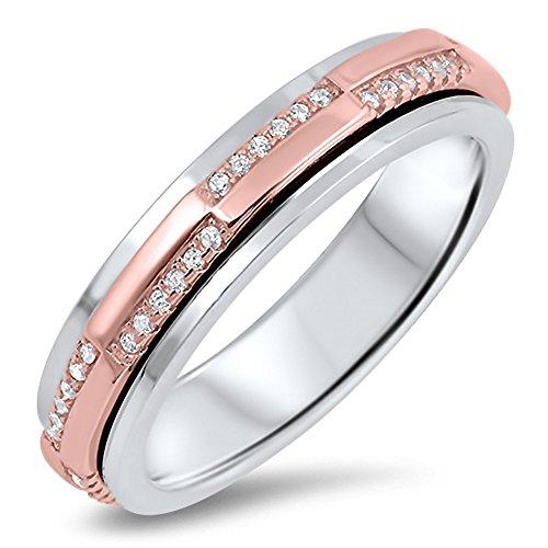 925 Sterling Silver Spinner Ring - 1