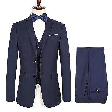Amazon.com: Diecaprle - 3 piezas de trajes para hombre para ...