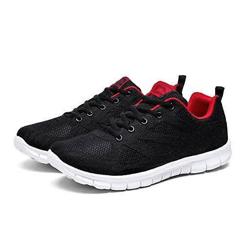Sport de Chaussures Mixte Shoes Running Chaussures de Course Baskets Gym Adulte Fitness Sport Noir pour vATdwqA