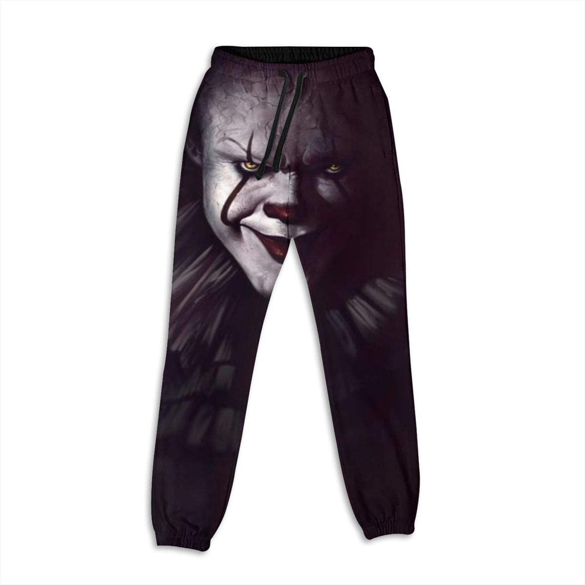Hzzzzz It Pennywise Womens Active Sweatpants Workout Joggers Drawstring Sweat Pants with Pocke