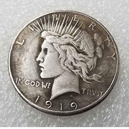 OppoLing Best Morgan US Dollars-1919 USA Old Coin Collecting-US Dollar USA Old Original Pre Morgan Dollar - One Dollar Best ()