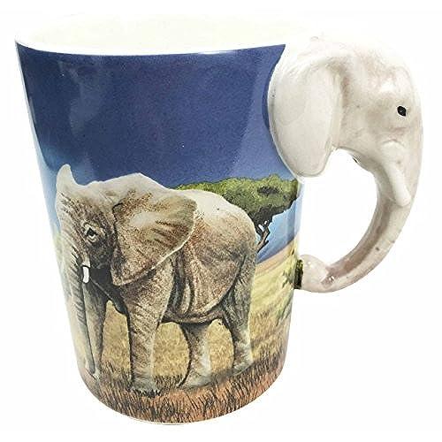 Beautiful Savanna Grassland Tusked Elephant Habitat 12oz Ceramic Mug Coffee Cup Home  U0026 Kitchen Decor Accessory