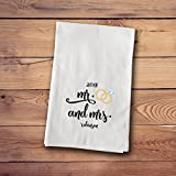 A Gift Personalized Tea Towels - Engagement & Marriage Towels - MrMrsRing