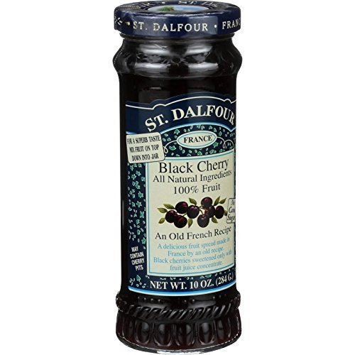 Charles Jacquin-St.Dalfour Consrv, Blk Chry, 100%Fruit, 10-Ounce (Pack of 6) ( Value Bulk Multi-pack)