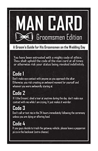 Groomsmen Gifts For Wedding - The Man Card - Groomsman Edition ()